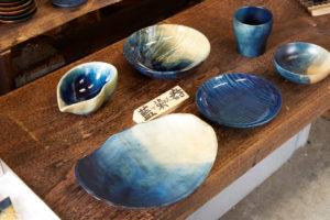 藍染木の皿