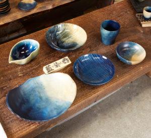 藍染木の皿②