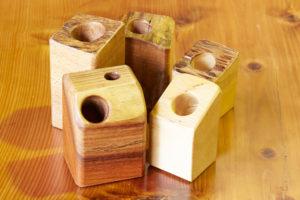 木製ハンコ入れ・ペン立て